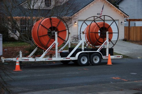 Verizon installing FiOS in my neighborhood